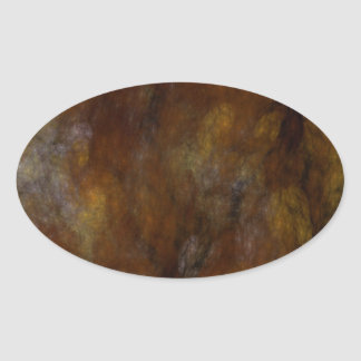 Rusty Abstract Fractal Oval Sticker