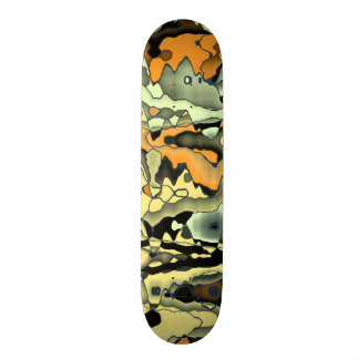 Rusty abstract skateboard deck