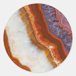 Rusty Amethyst Agate Classic Round Sticker