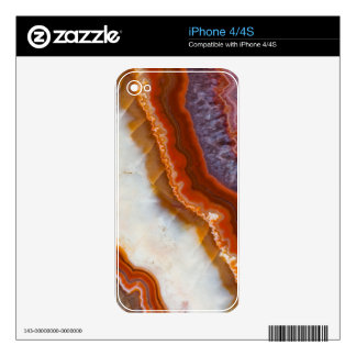 Rusty Amethyst Agate Skins For The iPhone 4