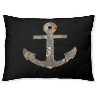 Beach Themed Rusty Anchor...with your background. Pet Bed