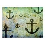 Rusty Anchors Artwork Postcard