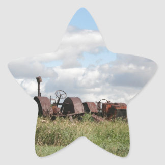 rusty antiques waiting star sticker