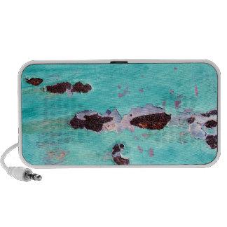 Rusty Aqua Metal Texture Portable Music Speaker