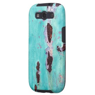 Rusty Aqua Metal Texture Samsung Galaxy S3 Case