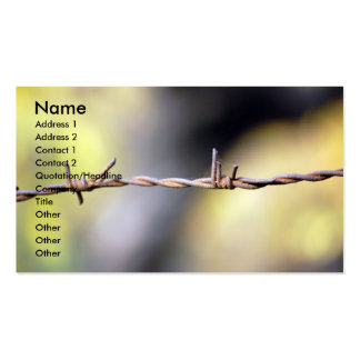 Rusty Barbed Wire Business Card