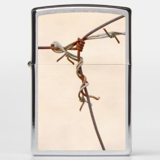 Rusty Barbed Wire Knot Zippo Lighter