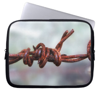 Rusty Barbed Wire Laptop Bag