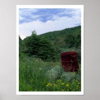 Rusty Barrel Poster