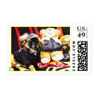 """Rusty Bear"" Postage Stamp"