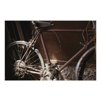 Rusty Bicycle Poster