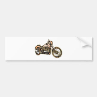 Rusty Bike (Motorbike) - Contemporary Art Bumper Sticker