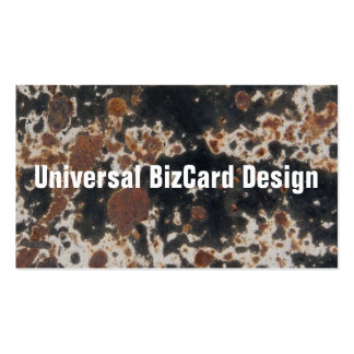 Rusty Black Metal Grunge Background Business Card