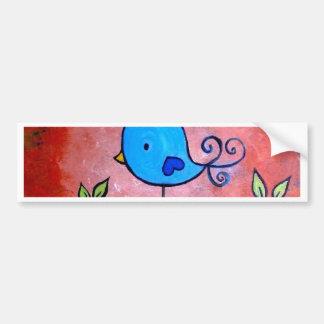Rusty Blue Bird Bumper Sticker