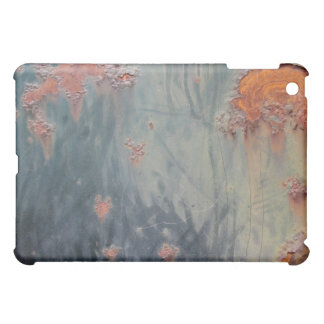 Rusty Blue Metal Texture 1 iPad Case