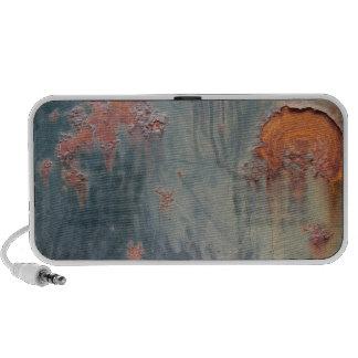 Rusty Blue Metal Texture 1 Portable Music Speaker