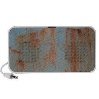 Rusty Blue Metal Texture 2 Portable Music Speaker