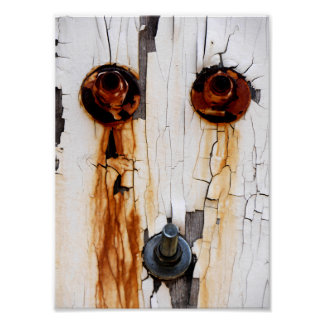 Rusty Bolts Nuts Peeling Paint Poster