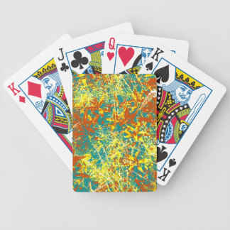 rusty brown and yellow bicycle playing cards