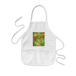 rusty brown and yellow kids' apron