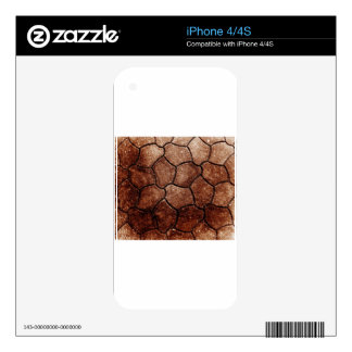 rusty brown art burn smoke Abstract Antique Junk S Skin For The iPhone 4