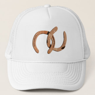 Rusty Brown Horse Shoes Trucker Hat