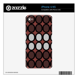 Rusty Brown Hugs Skins For iPhone 4S