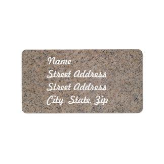 Rusty Brown Marble Address Sticker Address Label