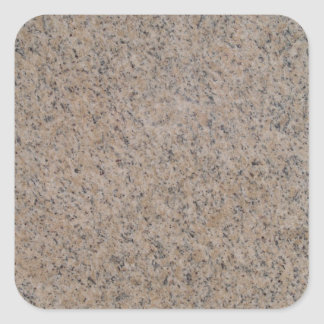 Rusty Brown Marble Square Sticker