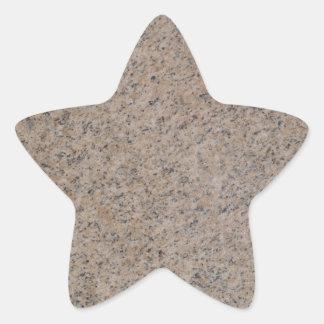 Rusty Brown Marble Star Sticker