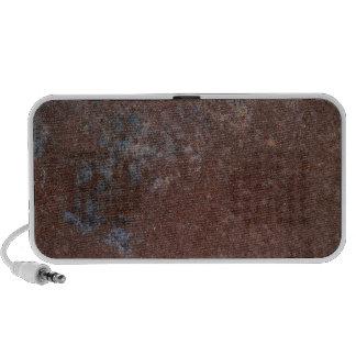 Rusty Brown Metal Texture Portable Music Speaker