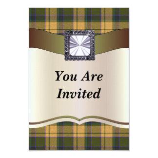 Rusty Brown tartan plaid Card