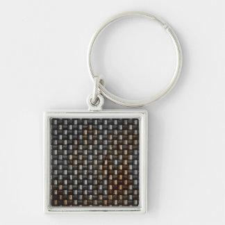 rusty carbon fiber texture keychain