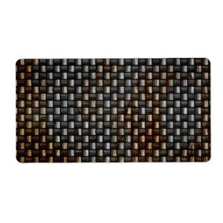 rusty carbon fiber texture labels