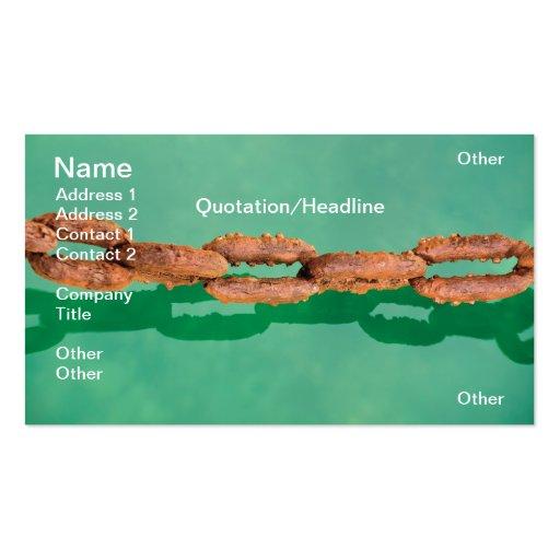 Rusty chain business card