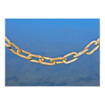 Rusty Chain with Cobwebs Invitation