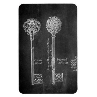 Rusty Chalkboard Victorian steampunk skeleton keys Magnet