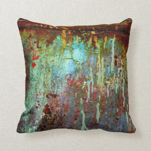 Rusty Colorful Pillow Throw