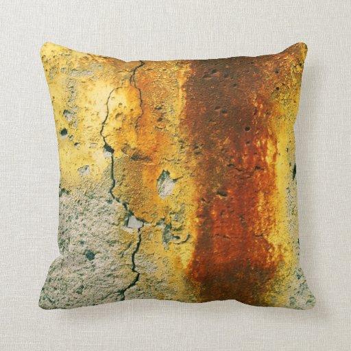Rusty Concrete Urban Grunge Throw Pillow