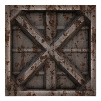 Rusty Container - Beige - Poster