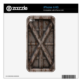 Rusty Container - Beige - Skin For The iPhone 4S
