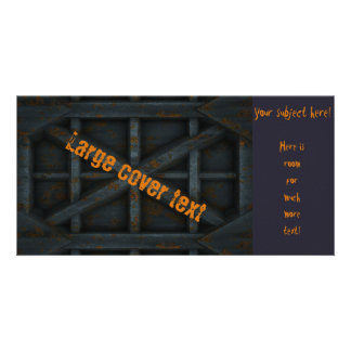 Rusty Container - Black - Photo Card Template