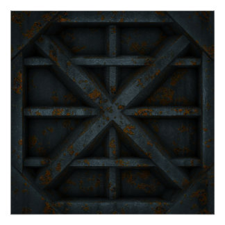 Rusty Container - Black - Poster