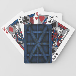Rusty Container - Blue - Bicycle Playing Cards