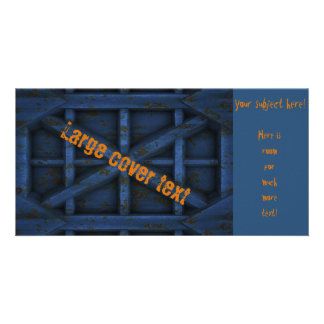 Rusty Container - Blue - Custom Photo Card