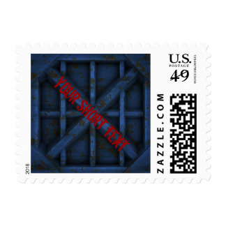 Rusty Container - blue - Postage Stamp
