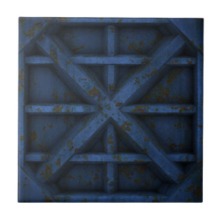 Rusty Container - Blue - Ceramic Tile
