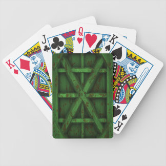 Rusty Container - Green - Bicycle Playing Cards
