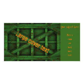 Rusty Container - Green - Custom Photo Card