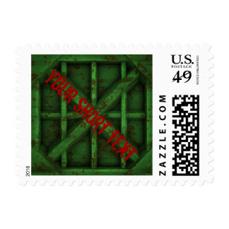 Rusty Container - green - Postage Stamp